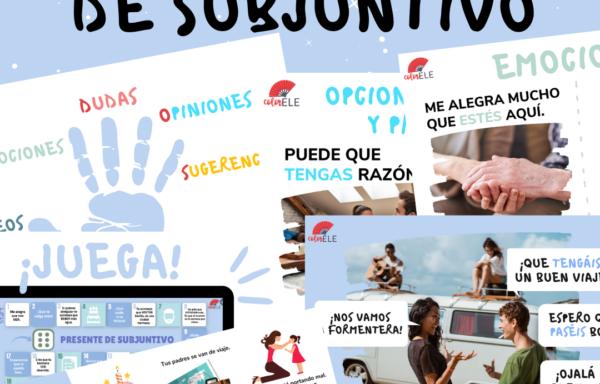 PRESENTE DE SUBJUNTIVO Presentación, actividades y juegos